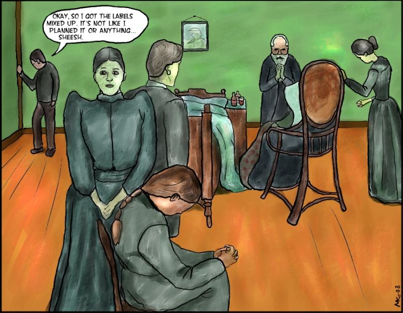noprrkele - Stoopid Art: Death in the sickroom (Munch)
